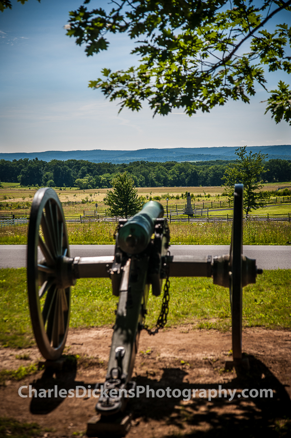 Gettysburg - Canon looking over where Pickett's charge took place